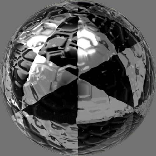 fudsion360 レンダリングのガラス-モザイク球