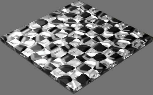 fudsion360 レンダリングのガラス-モザイク直方体