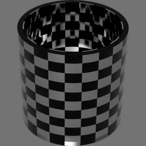 fudsion360 レンダリングのガラス-中間色円柱