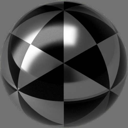 fudsion360 レンダリングのガラス-中間色球