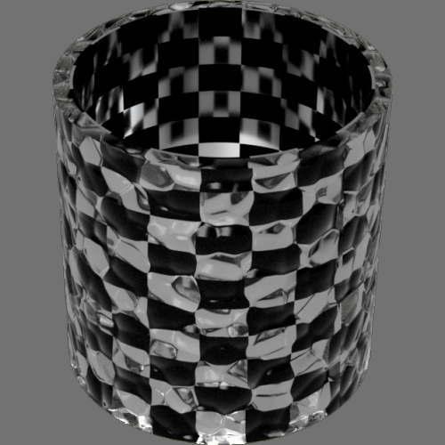 fudsion360 レンダリングのガラス-泡円柱