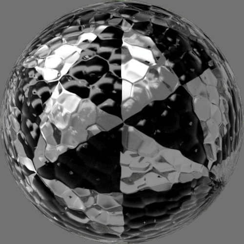 fudsion360 レンダリングのガラス-泡球