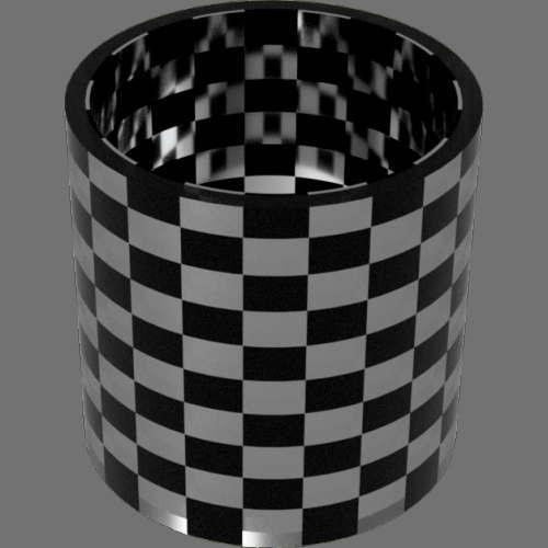 fudsion360 レンダリングのガラス-淡色円柱