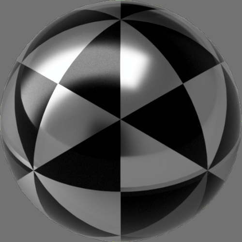 fudsion360 レンダリングのガラス-淡色球
