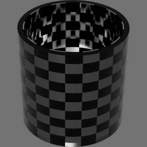 fudsion360 レンダリングのガラス-濃色円柱