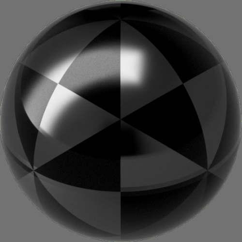 fudsion360 レンダリングのガラス-濃色球