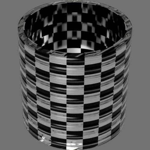 fudsion360 レンダリングのガラス-線円柱2