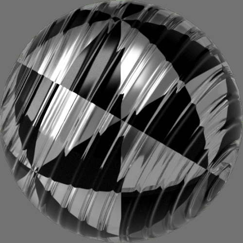 fudsion360 レンダリングのガラス-線球2