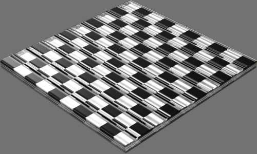 fudsion360 レンダリングのガラス-線直方体