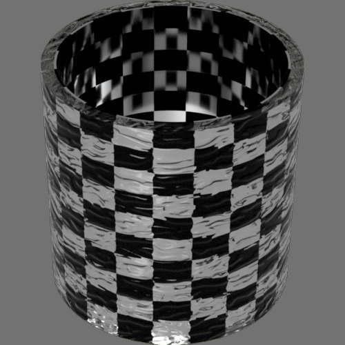 fudsion360 レンダリングのガラス-雲円柱