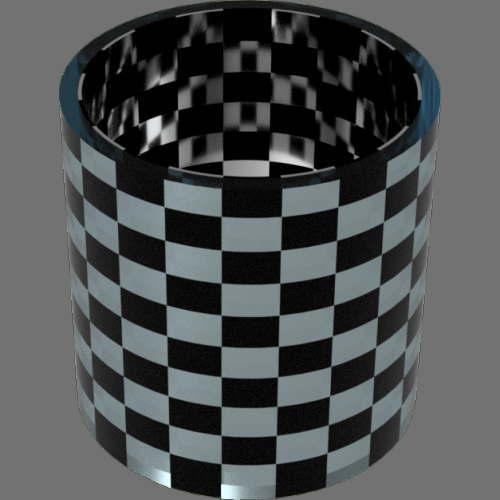 fudsion360 レンダリングの滑らか-ガラス円柱