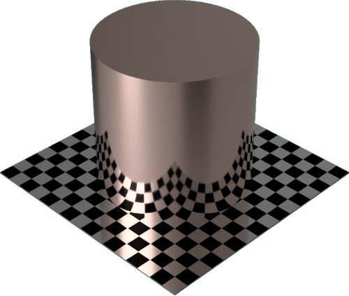3DCADモデリングの外観をメタルの銅-つや出し円柱