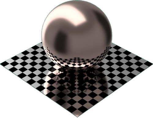 3DCADモデリングの外観をメタルの銅-つや出し球