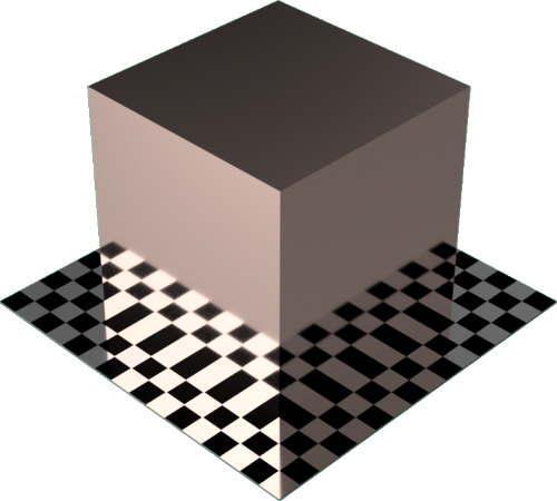 3DCADモデリングの外観をメタルの銅-つや出し直方体