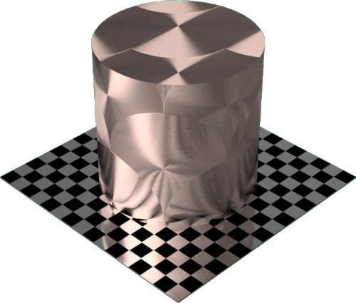 3DCADモデリングの外観をメタルの銅-ブラシ仕上げ放射状円柱