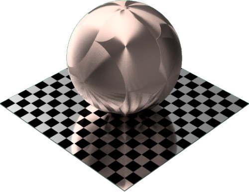 3DCADモデリングの外観をメタルの銅-ブラシ仕上げ放射状球