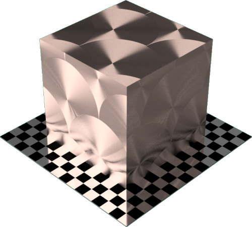 3DCADモデリングの外観をメタルの銅-ブラシ仕上げ放射状直方体