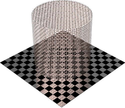 3DCADモデリングの外観をメタルの銅-メッシュワイヤ小円柱