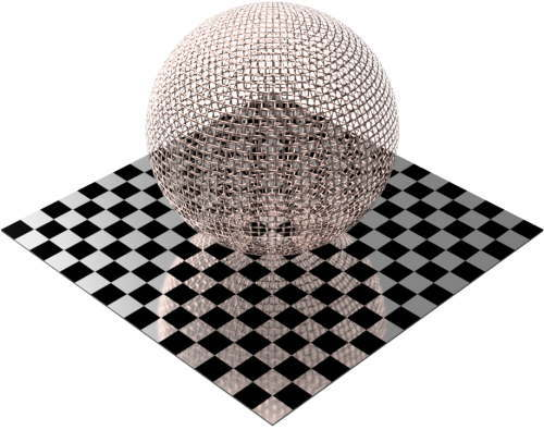 3DCADモデリングの外観をメタルの銅-メッシュワイヤ小球