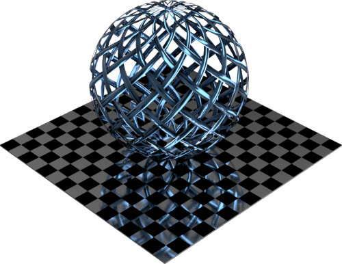 3DCADモデリングの外観をメタルの銅-メッシュワイヤ小色変更後