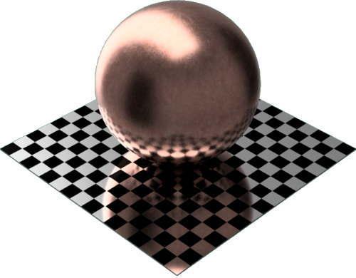 3DCADモデリングの外観をメタルの銅-未処理球