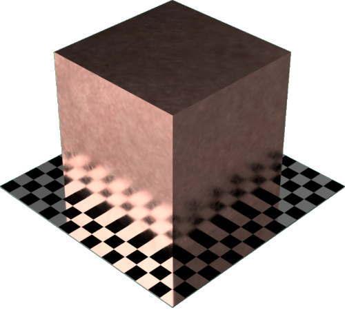 3DCADモデリングの外観をメタルの銅-未処理設定変更後