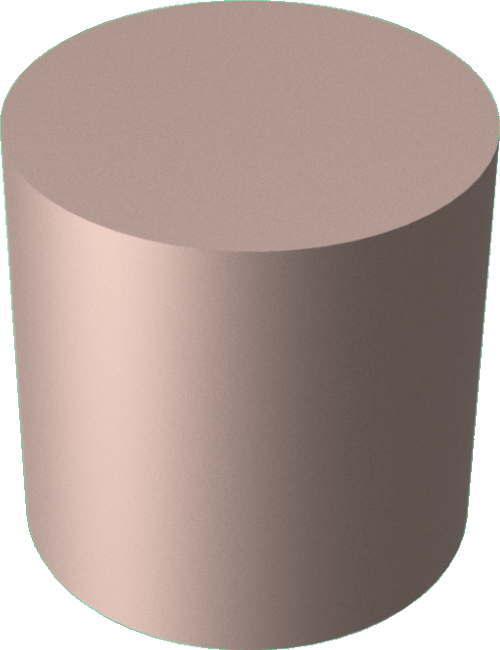 3DCADモデリングの外観をメタルの銅-緑青円柱