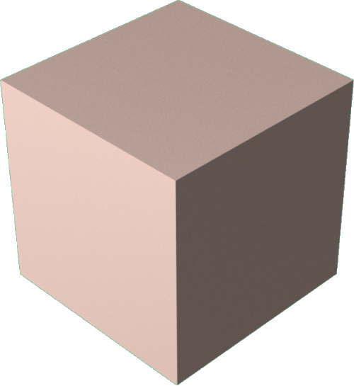 3DCADモデリングの外観をメタルの銅-緑青直方体