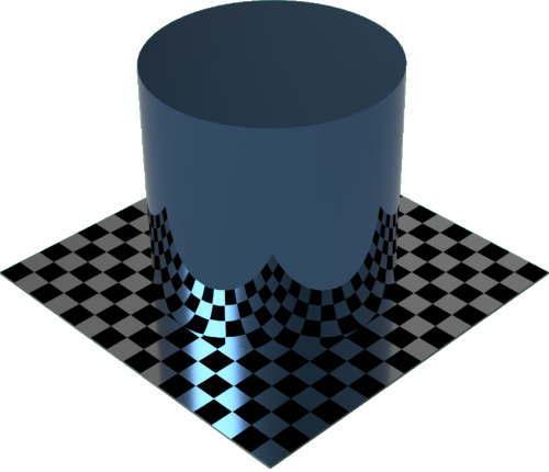 3DCADモデリングの外観をメタルの銅-緑青色変更後