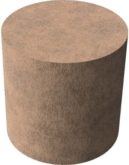 3DCADモデリングの外観を布-レザー円柱