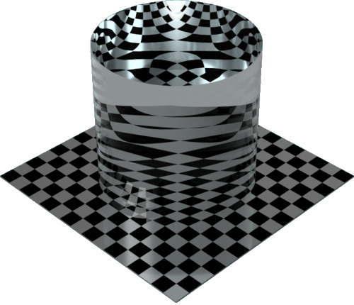 3DCADモデリングの外観を液体の水-クリア円柱