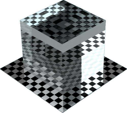 3DCADモデリングの外観を液体の水-クリア直方体