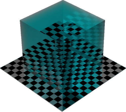 3DCADモデリングの外観を液体の水-クリア色変更後
