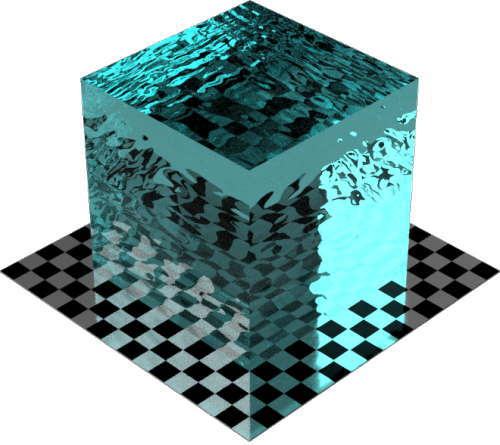 3DCADモデリングの外観を液体の水-スイミングプール色変更後