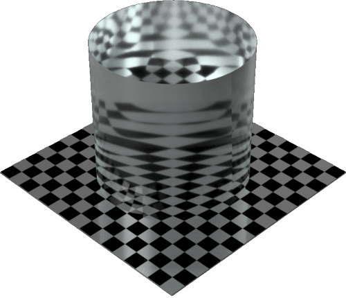 3DCADモデリングの外観を液体の水-波立つ海円柱