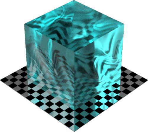 3DCADモデリングの外観を液体の水-波立つ海色変更後