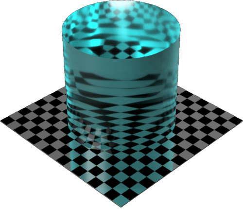 3DCADモデリングの外観を液体の水-穏やかな海色変更後