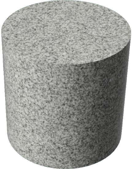 3DCADモデリングの外観を花こう岩の御影石-白黒円柱
