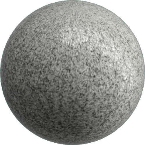 3DCADモデリングの外観を花こう岩の御影石-白黒球