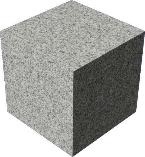 3DCADモデリングの外観を花こう岩の御影石-白黒直方体