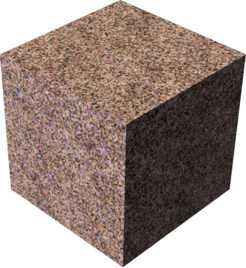3DCADモデリングの外観を花こう岩の御影石-赤の色変更後
