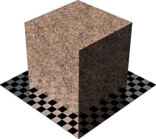 3DCADモデリングの外観を花こう岩の御影石-赤デザイン変更後