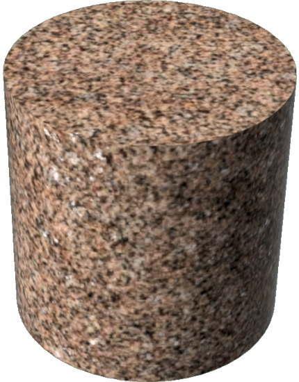 3DCADモデリングの外観を花こう岩の御影石-赤円柱