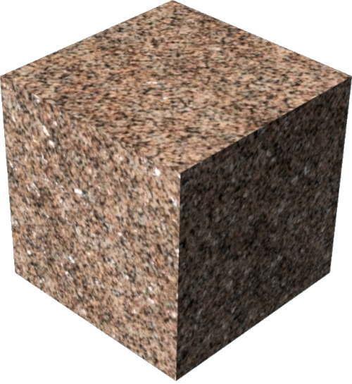 3DCADモデリングの外観を花こう岩の御影石-赤直方体