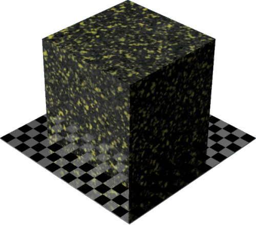 3DCADモデリングの外観を花こう岩の御影石-青みがかった灰色の色変更後