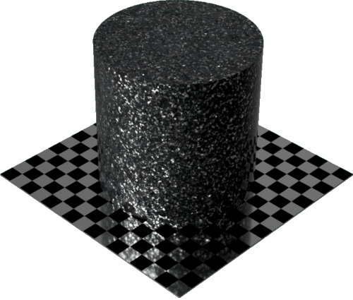 3DCADモデリングの外観を花こう岩の御影石-青みがかった灰色円柱