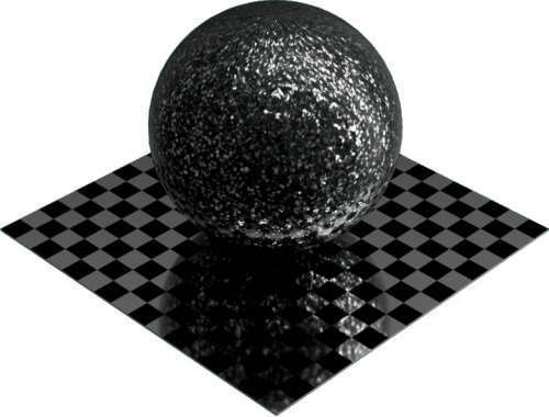 3DCADモデリングの外観を花こう岩の御影石-青みがかった灰色球