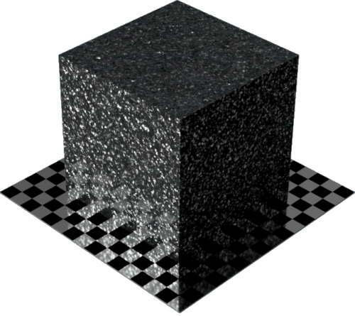 3DCADモデリングの外観を花こう岩の御影石-青みがかった灰色直方体