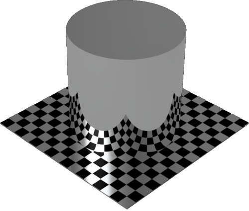 3DCADモデリングの外観を鏡円柱
