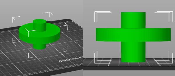 Prusa-Slicerでサポートが必要なモデル
